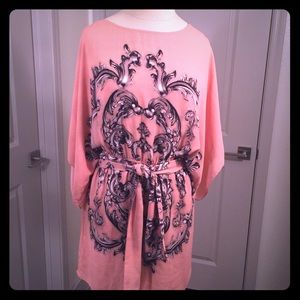 BCBGMAXAZARIA Stunning Kimono Style XS Mini Dress
